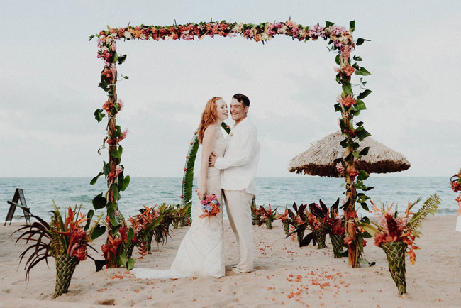wedding at belizean dreams resort