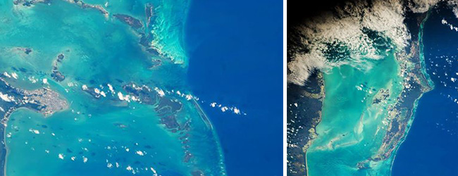 Belize Barrier Reef from Outer Space