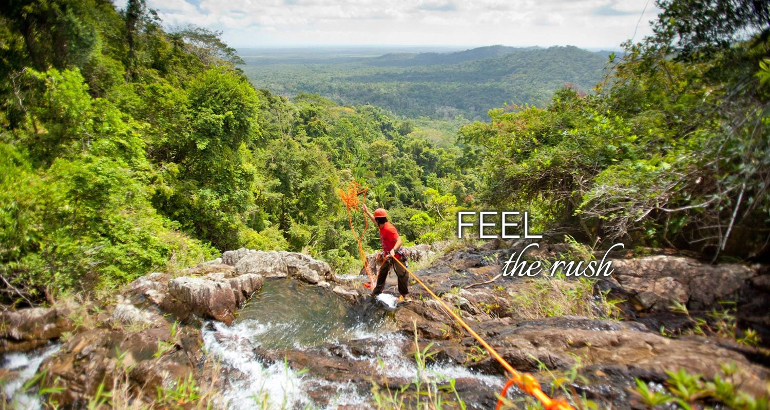 Belize Cave Tubing, Rapelling and Ziplining Tours