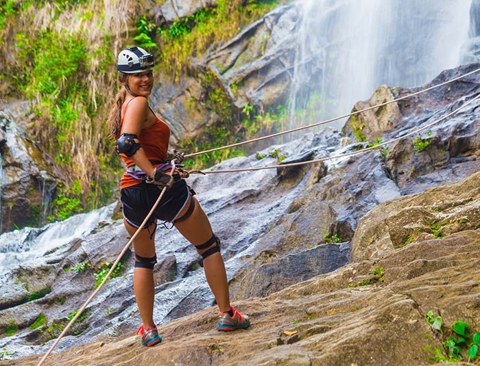 Belize Resort Waterfall Rappelling Tour
